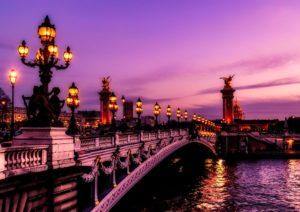 La ville parisiennes en VTC